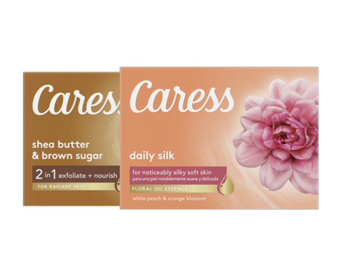 Caress Daily Silk Body Wash and Shea Butter and Brown Sugar Beauty Bar
